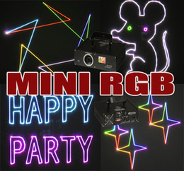 Wholesale SD card function mW RGB Full Color animation laser Show Disco Xmas Christmas Party Gift mini RGB Laser Light