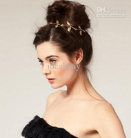Wholesale New Fashion Gold Bronze Metal Leaf Charming Headband Hair Band