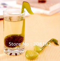Tea Balls Plastic ECO Friendly Music symbol spoon with Tea Strainer Stirrer Clip-on Tea Strainer Tadpole