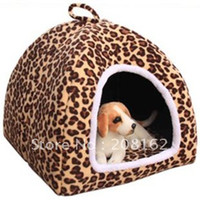 Wholesale Dog Nest Classic Large Leopard Yurts With Mats Pet Supplies