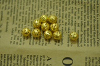 Wholesale Factory Hi Q free ship mm nice orange hollow Filigree Round ball Beads jewelry parts finding