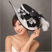 Wholesale Black Diamond Bow Top Hat The Bride Deserve To Act The Role Of The Bride Headdress