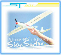 Electric Plastic 95% Ready to fly Free shipping Nine Eagles Sky Surfer 2.4G 4CH 4 channel rc airplane Powered Glider 781B 300 RC Plane (2.4Ghz Edition)