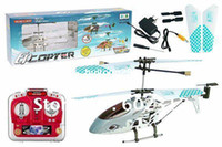 Wholesale cm ch QS9008 RC Helicopter RTF Gyro LED Lights amp Metal Body Frame Remote radio Control Toys QS
