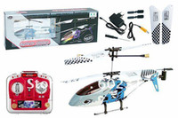 Electric Ready-to-Go Remote Control Free Shipping 3ch 21cm Mini Agilely Glider RT RC Helicopter 9008 with LED Lights & Full Metal Body Frame Indoor Co-Axial