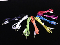 Wholesale Flat mm Car Aux audio Cable Stereo Male M Audio Headphone PC patch Cable Cord