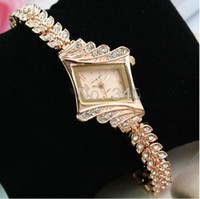 Wholesale 2013 Rose gold diamond bracelet watch fashion luxury watches for women fashion quartz watch Ladies watch