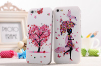 Plastic beauty buys - Hot Selling Diamond Bling Plastic Hard Back Case Cover Colorful Beauty Flower Girl Design Phone Case Cover For iPhone S iPhone5 G