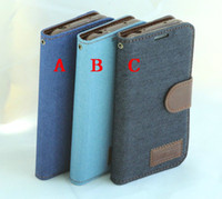 Leather galaxy s4 active - Denim jean Wallet Leather Credit Card Stand with Soft tpu Cover for Samsung Galaxy S4 Active i9295