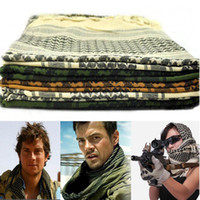 Wholesale New US Shemagh Arab Tactical Scarf face veil hunting airsoft ski multi purpose scrim Hiking Camping scarves cm