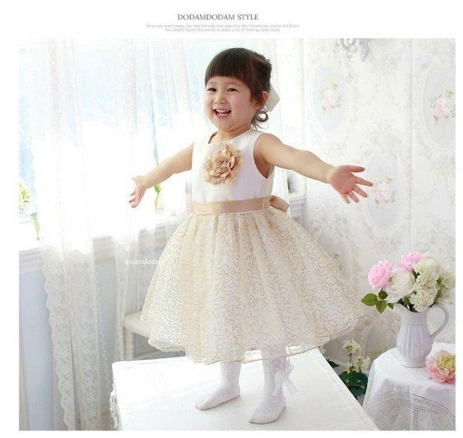 Best elegant baby princess dress baby wedding dress with for Kids wedding dresses online