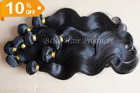 Wholesale Mix length quot quot Peruvian Virgin Remy Hair Weft Natural Color Weave Body Wave Hair Extensions g AAAA