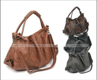 Wholesale HOT Sale NEW Korean Style Lady Hobo PU Leather Shoulder BAG Handbag Colors
