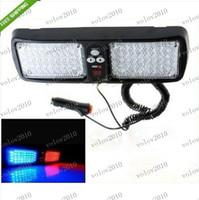Wholesale LLFA1843 Super Bright LED Car Truck Visor Strobe Flash Light warning lighting blue amp red