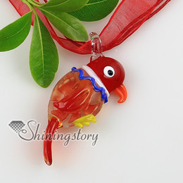 bird flowers inside Itailian lampwork murano glass necklaces pendants Fashion jewelry necklace Mup2253yh5