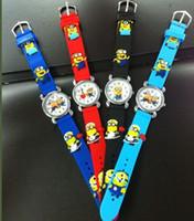 Wholesale 3D Eye Despicable Me minion Precious Milk Dad Children Watches Quartz Wrist Watch
