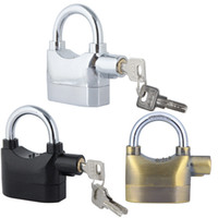Wholesale Anti Theft Alarm Lock Security System for Door Motor Bike Bicycle Padlock dB with Keys Black Silver Bronze