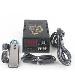 Wholesale NEW PROFESSIONAL DIGITAL TATTOO POWER SUPPLY FOOT PEDAL CLIP CORD P142