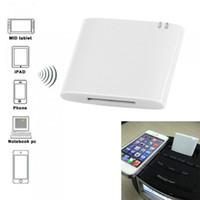 Wholesale Wireless Bluetooth Music Receiver I WAVE A2DP Music Audio Receiver pin Connector Apple Docking Speaker Adapter for iPhone iPod