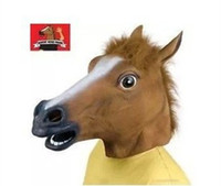 Wholesale AAA Quality Creepy Horse Mask Head Halloween Costume Theater Prop Novelty Latex Rubber From Power Seller