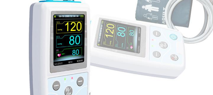 New Contec Abpm50 Digital Nibp,24 Hours Pulse Rate All Day ...