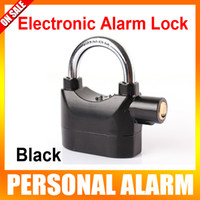 Black,yellow,silver(optional) alarm lock parks - Alarm Security Steal Safety Lock Moped Bike Car Electronic Alarm Lock Color Black