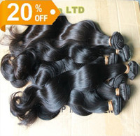 Wholesale 100 Brazilian Hair Weave Off inch Double Weft Extensions Remy Unprocessed Virgin Hair Body Wave g pc Grade A