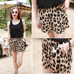 Wholesale 2013 Womens Trendy Leopard Grain Leisure Shorts Bandwidth Casual Stretchy Pants