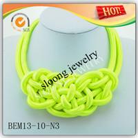 Wholesale 2014 Fashion Yiwu lady s fashion nylon necklace cords necklace