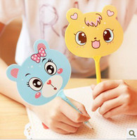Rollerball Pens  animal writing pens - New cute cartoon animals fan Ballpoint Pen Fashion Style Ballpoint Pen ballpen Gift creative stationery