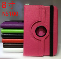 Cheap 360 Degree Rotating Stand Leather Case colorful for Samsung Galaxy Note 8.0 N5100,50pcs Free DHL Fedex