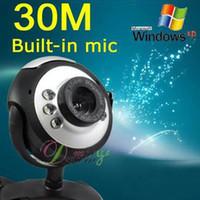 Wholesale Webcam M PIXELS USB PC LAPTOP Video Cam LED portable Built in Microphone
