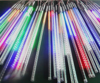 Wholesale 2014Christmas Ornament light MOQ sets cm led w Tube SMD Outdoor IP65 Water Rainproof Snowfall Meteor Lights color free ship