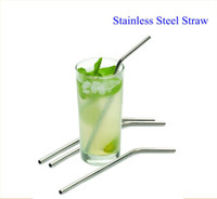 Wholesale Reusable Drinking Straw Curved Stainless Steel Straw Eco Friendly Straw