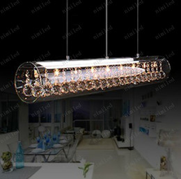 Wholesale nimi77 LED K9 Crystal Restaurant Table Lamp Living Room Lamp Chandelier Pendant Droplight Light Lighting Italian Designer Bar Counter
