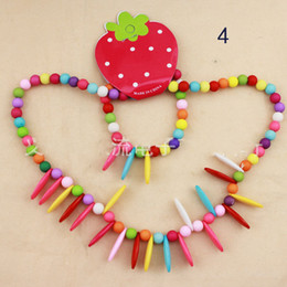 Wholesale Children jewelry set girl mixed plastic beads necklace bracelet set new baby kids gifts set necklaces bracelets