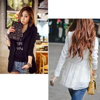 Women Fashion Lapel Neck NEW Women'S Fashion Korea Style Chiffon Slim Suit Blazer Coat Jacket S M L XL