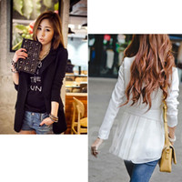 Wholesale NEW Women S Fashion Korea Style Chiffon Slim Suit Blazer Coat Jacket S M L XL