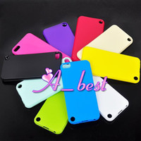 Wholesale TPU Gel Soft Back Case For Apple iPod itouch Touch4 Touch Silicon Silicone Candy Color Cover