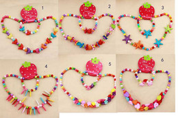 Wholesale Children jewelry set girl mixed cute plastic plastic beads necklace bracelet set new baby kids gifts set necklaces bracelets