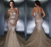 boat - 2014 Nude boat neck crepe beads sequins Backless Cap Sleeves See through mermaid Pageant Dresses floor length evening dress ed08