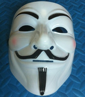 Wholesale V for Vendetta Mask Guy Fawkes Halloween Party Face Mask Costume Mask
