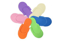 Flip Flops pedicure slippers - HOT Disposable Slipper EVA Foam Salon Spa Slipper Disposable Pedicure thong Slippers Beauty Slippe