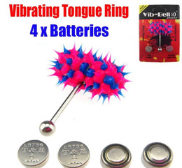 Wholesale 10 VIBRATING TONGUE BAR STUD RING FREE BATTERIES BODY PIERCING JEWELRY