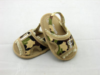 Wholesale 2013 Summer Baby Shoes New Arrival Camouflage Cloth Army Green New Born Infants Sandals Economical First Walkers On Sale T2108