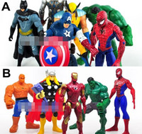 Wholesale The Avengers Captain America Spiderman Thor Batman Hulk Wolverine Action Figures Toy PVC Figure cm set CWZ0424