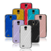 Leather For Samsung For Halloween for Samsung Galaxy S4 SIV I9500 Eletroplate Sheep Leather Case Cover Skin Shell Cell Phone Back Covers Mix Colors Free Shipping Fedex DHL