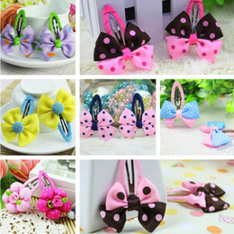 Wholesale Children s bowknot hair clip designs mixed baby girl lovely hairpin hairclip bowknot barrettes children s hair accessories