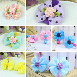 Baby girl's hairclip flower bowknot hairpin children's hair accessories multi colors mixed girl barrettes hair clip