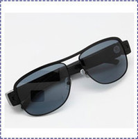 Wholesale HK POST HD P Sunglasses Recorder Glasses Camera Spy Hidden Eyewear Recorder Mobile DVR suppot up to GB card